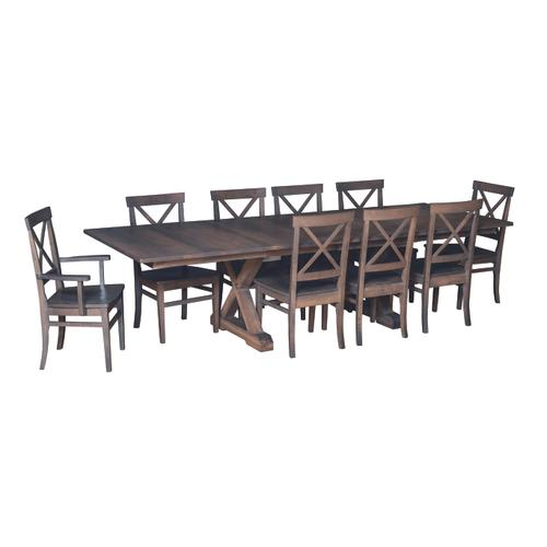 """Country Value Woodworks - 72"""" Crossway Dining Set"""