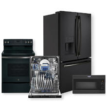 "25.6 Cu. Ft. French-Door Refrigerator & 30"" Free-Standing Electric Convection Range Package- Open Box"
