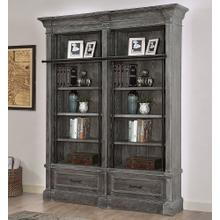 View Product - 2 PIECE MUSEUM BOOKCASE INCLUDING LADDER