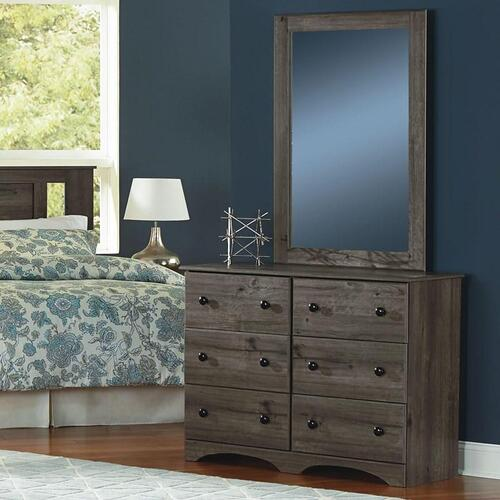 Product Image - 6 Drawer Narrow Dresser Weathered Gray Ash