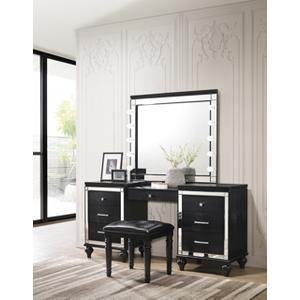 New Classic Furniture - 3pc Black Vanity Set, Valentino