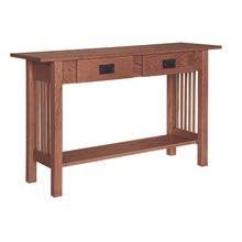 See Details - Mission 2 Drawer Sofa Table