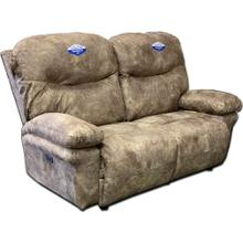 See Details - Leya Power Reclining Console Loveseat with Adjustable Headrest