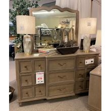 Legends Furniture 9 Drawer Dresser & Mirror