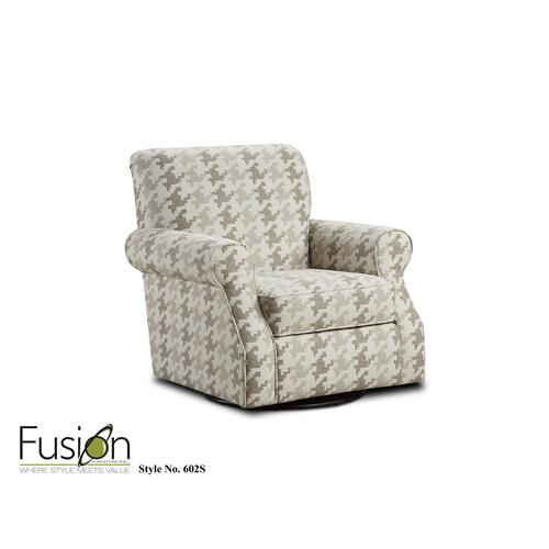 Fusion Furniture - 602S BLASS BERBER SWIVEL ACCENT CHAIR