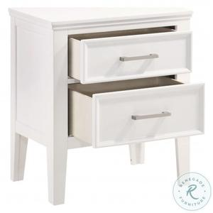 New Classic Furniture - Andover White Nightstand by New Classic, Model 677