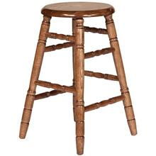 "24"" Plain Stationary Barstool"
