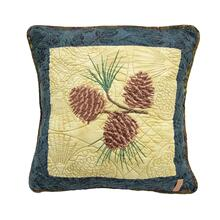 "Cabin Raising ""Pine Cone"" Throw Pillow"