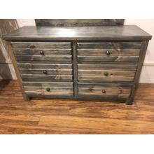 6 Drawer Dresser Rustic Grey