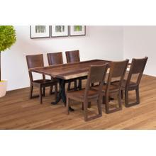 Redwood Forest Amish Custom LIVE EDGE Dining Set