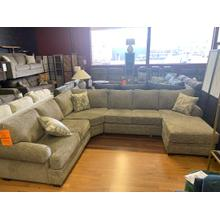 422: Handwoven Stone Sectional