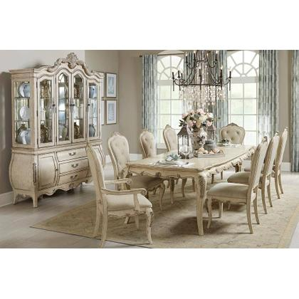 7 Piece Set includes a dining table, two arm chairs and four side chairs.