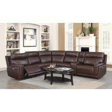 See Details - Klaussner Leather Sectional with Power Headrest and Power recliners