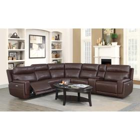 Klaussner Leather Sectional with Power Headrest and Power recliners
