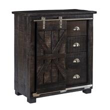 Ice Box Cabinet with Silver Accents - 1 only!