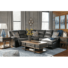 Nantahala - Slate - 1 Recliner Sectional with Right Facing Chaise