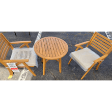 View Product - Chairs w/CUSH/Table Set (3/CN) Brown