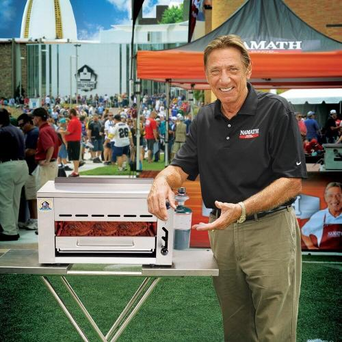 CLOSEOUT - The Namath Rapid Cooker by EdenPURE | The Official Grill of the Pro Football Hall of Fame  w/ 2-in-1 Cover & Carrying Case