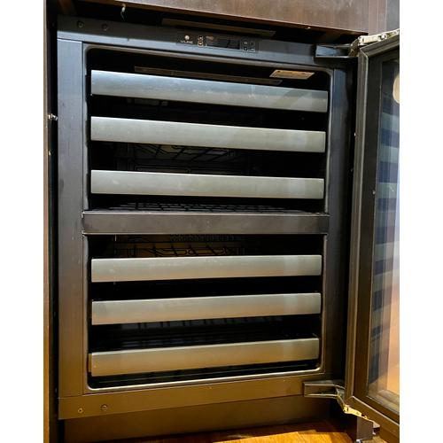 """U-Line  U3024ZWCS00B   3024zwc 24"""" Dual-zone Wine Refrigerator With Stainless Frame Finish and Field Reversible Door Swing (115 V/60 Hz Volts /60 Hz Hz)"""
