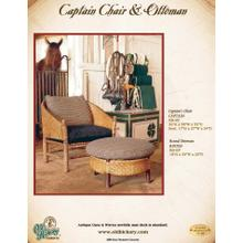 Captain Chair and Ottoman