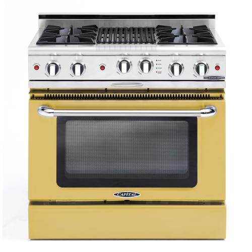 "Capital - Culinarian 36"" Gas Self Clean Range (Custom RAL Color)"