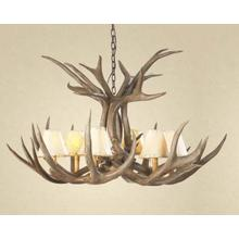REAL 6-Light Mule Deer Antler Chandelier