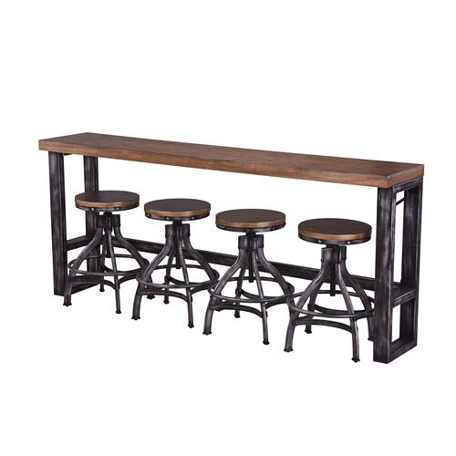 Sofa Bar Table and 3 Stools