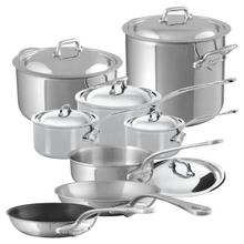 See Details - Mauviel M'Cook Stainless Steel Cookware Set 14 Pieces With Cast Stainless Steel Handles