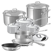 Mauviel M'Cook Stainless Steel Cookware Set 14 Pieces With Cast Stainless Steel Handles