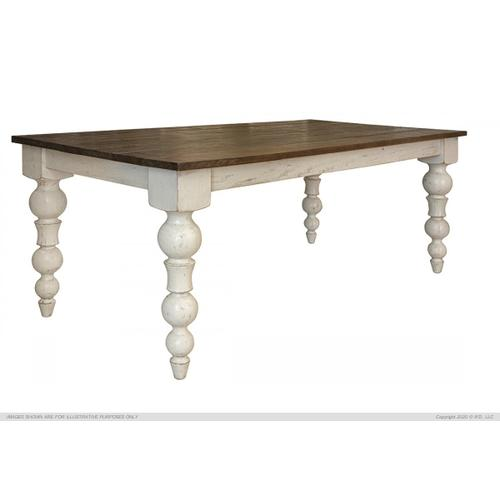 International Furniture Direct - Rock Valley Dining Table W/Turned Legs
