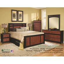 Cinnamon/Black Perdue 5 Drawer Chest