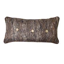 Brown Antler Wood Throw Pillow