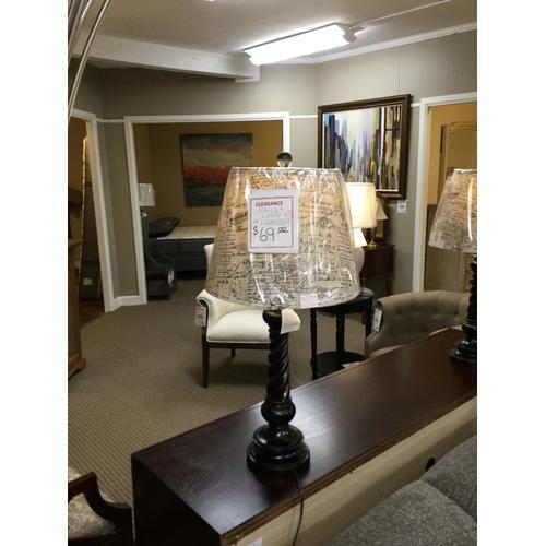 """Ashley """"Roisen"""" Antique Black Finish L280334 Table Lamp 15.75""""W X 15.75""""D X 32.25""""H FD"""