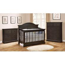 See Details - Waterford Curved Panel 4 in 1 Convertible Crib Dark Espresso Finish