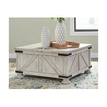 See Details - Lift Top Storage Cocktail Table & 2 End Tables (SET)