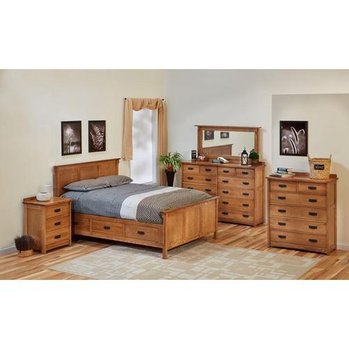 Witmer Furniture - American Craftsman Quarter Sawn Oak Color #38 w/ M25 Handles