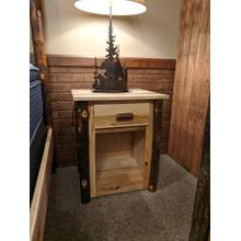 Hickory 1-Drawer Nightstand