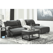 Clonmel - Charcoal - 1 Recliner Sectional with Pressback Chaise