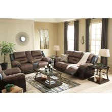 EARHART - CHESTNUT RECLINING SOFA & RECLINING LOVE SEAT W/ CONSOLE