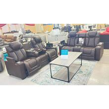 Paramount Brown POWER motion Sofa and Loveseat