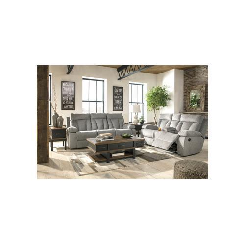 Mitchiner- Gray Reclining Sofa and Loveseat