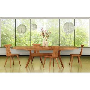 AUDREY EXTENSION TABLES WITH EASYSTOW EXTENSION AND LEAF STORAGE IN CHERRY