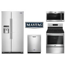 Maytag Kitchen Electric Range Side by Side Refrigerator