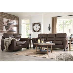 Navi Chestnut Sofa and Loveseat Set
