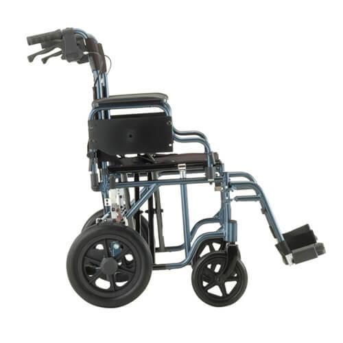 """22"""" Heavy Duty Transport Chair w/ 12"""" rear wheels"""
