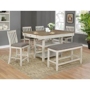 Nina 5pc Counter Height Set Plus Bench