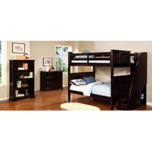 Belfort Full over Full Bunk Bed with Stairs and Waterford Collection - Espresso