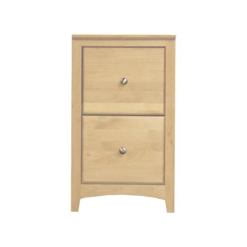 Unfinished Alder 2 Drawer File Cabinet w/ Nickel Knobs