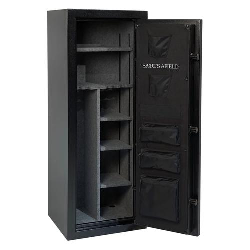 Product Image - 18-Gun Fire Safe w/Electronic Lock, Door Storage, Convertible Interior with Fully Wrapped Shelves