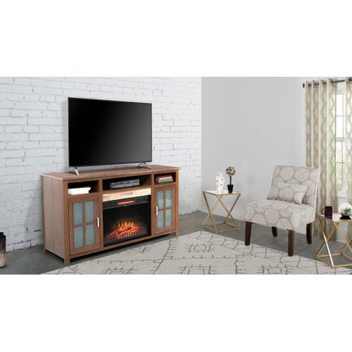 "Nashville 60"" TV Stand with Fireplace - Golden Maple"